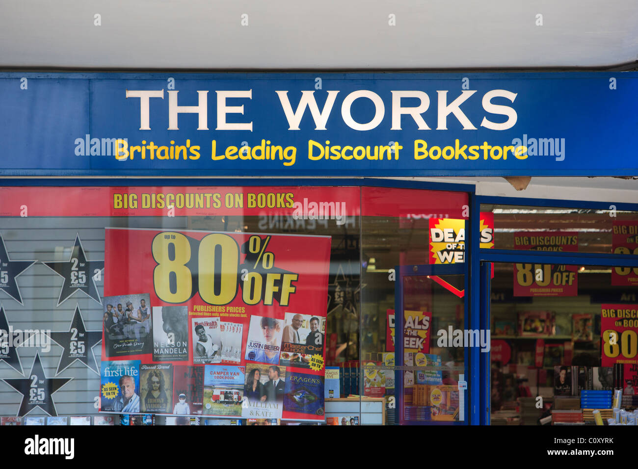 The Works discount store - Stock Image