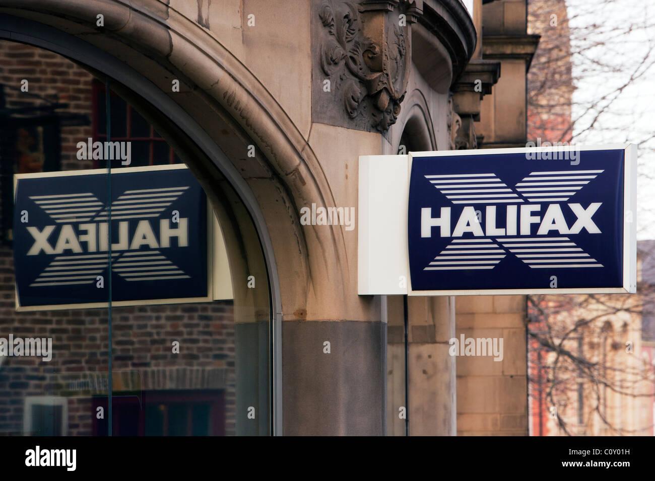 Halifax bank sign and logo - Stock Image