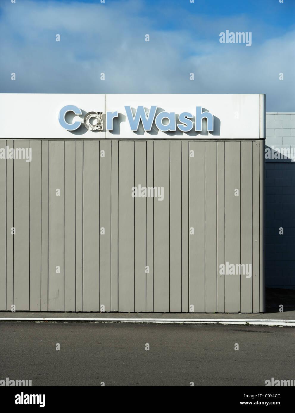 Car wash, New Zealand. - Stock Image