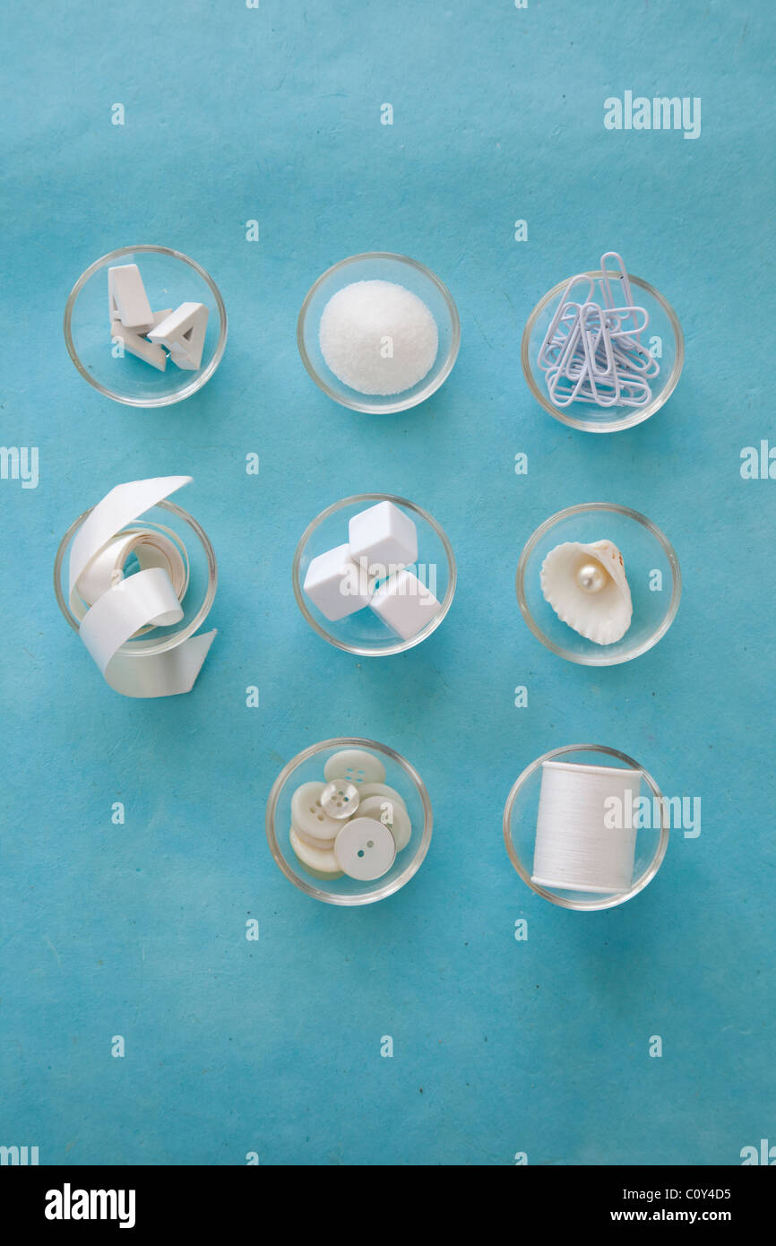 organize small items, collections - Stock Image