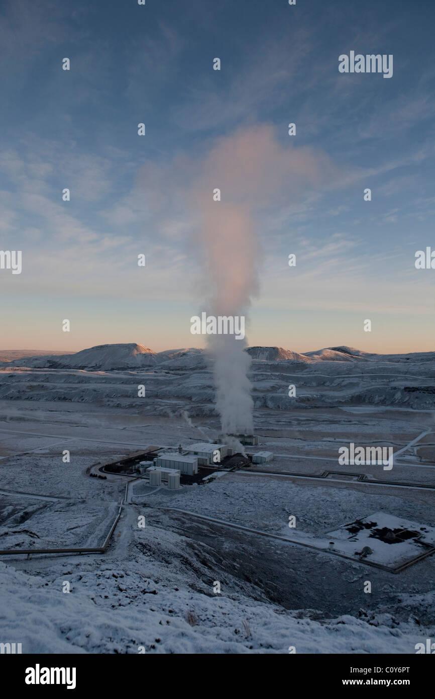 Hellisheiði Power Station - Iceland -geo thermal power - Stock Image