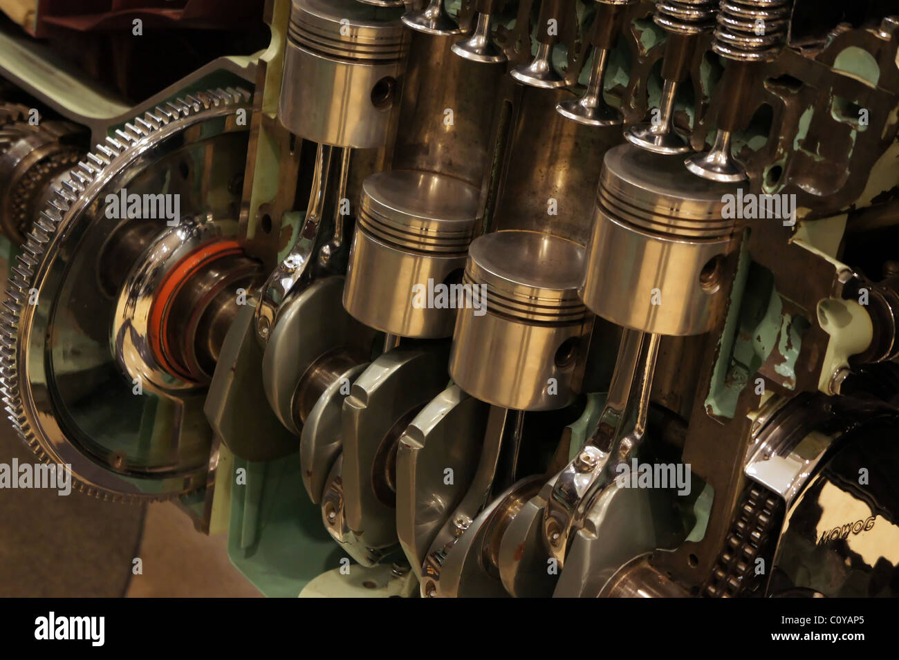 Internal Combustion Engine Stock Photos Simple Diagram Cut Away 4 Cylinder Image