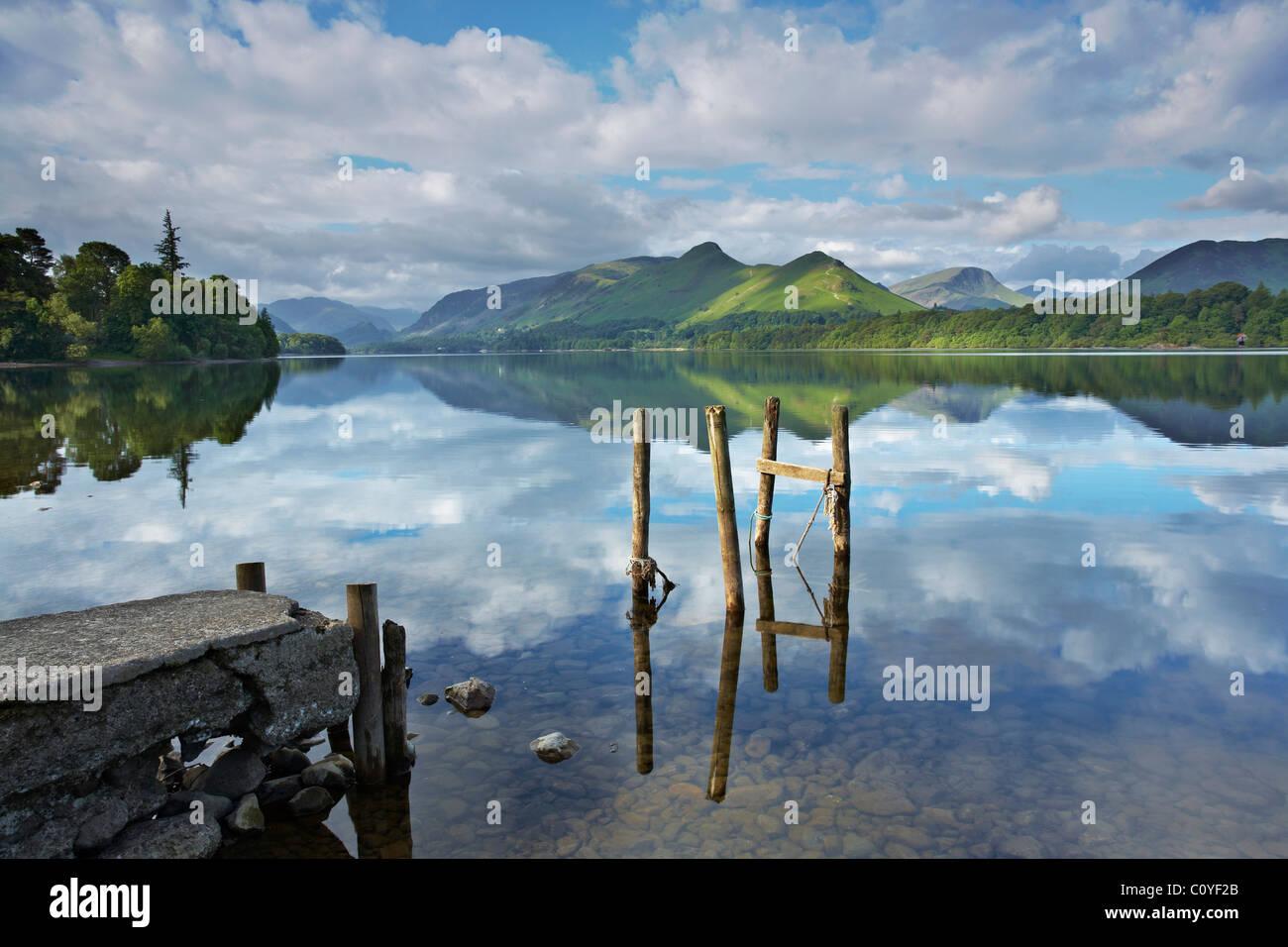 Derwent Water Jetty - Stock Image