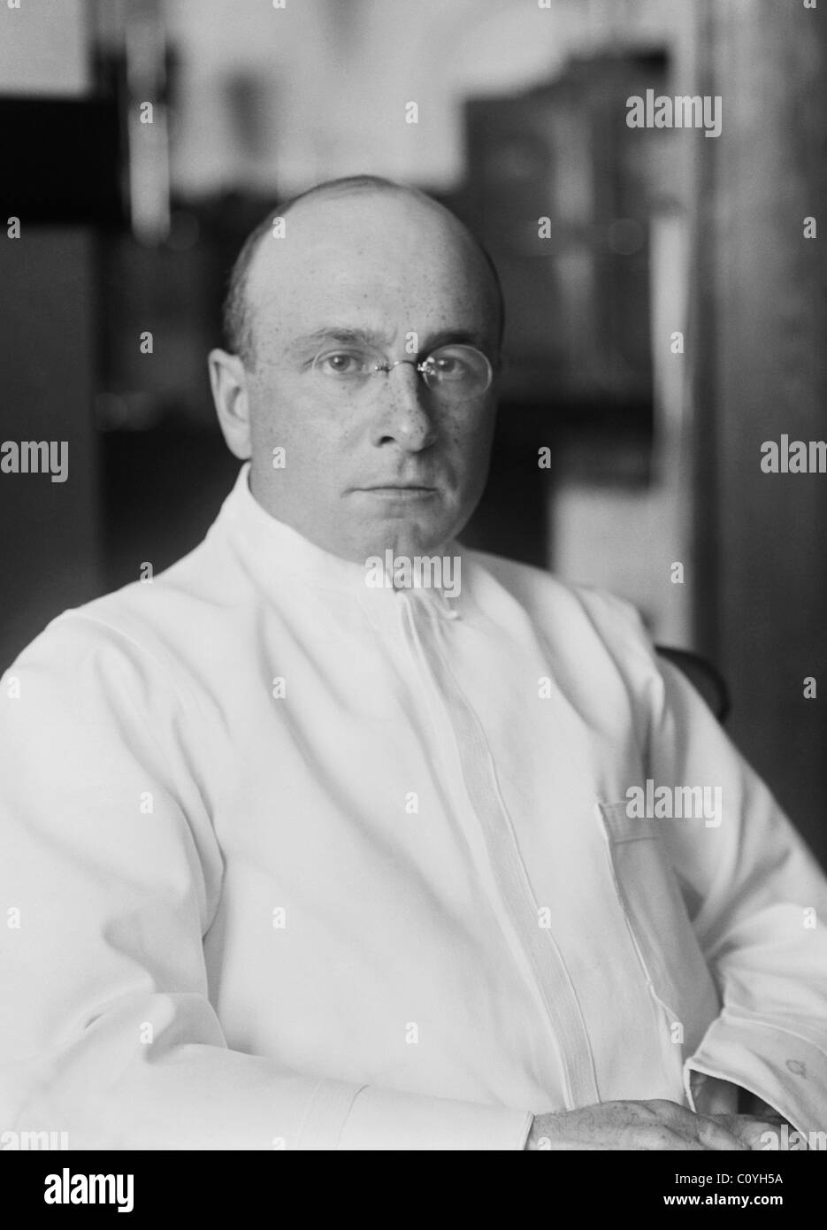 French surgeon, biologist and eugenicist Alexis Carrel (1873 - 1944) - winner of the 1912 Nobel Prize in Physiology - Stock Image