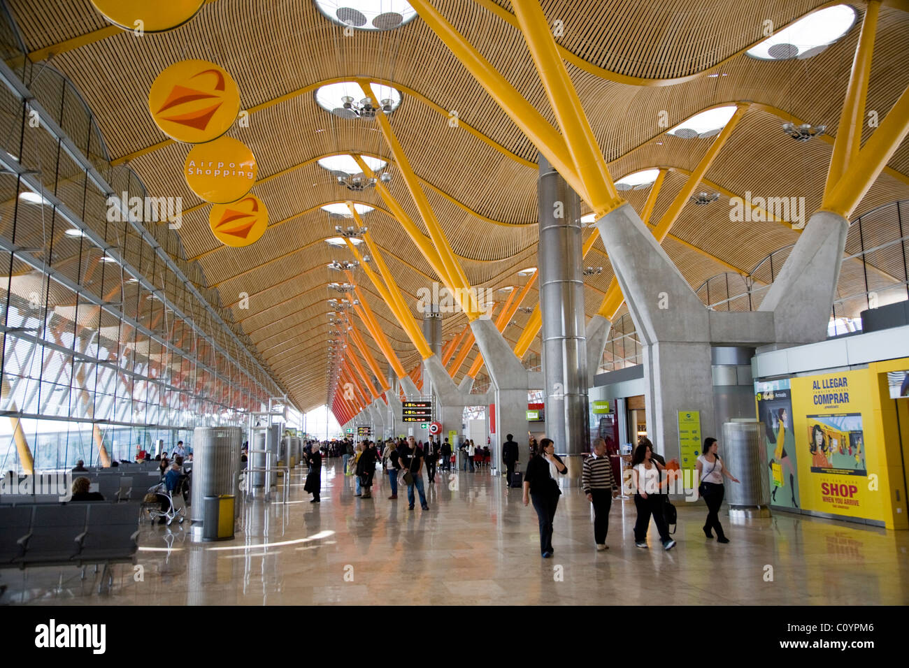 Airport Departure Departures Lounge And Modern Roof At