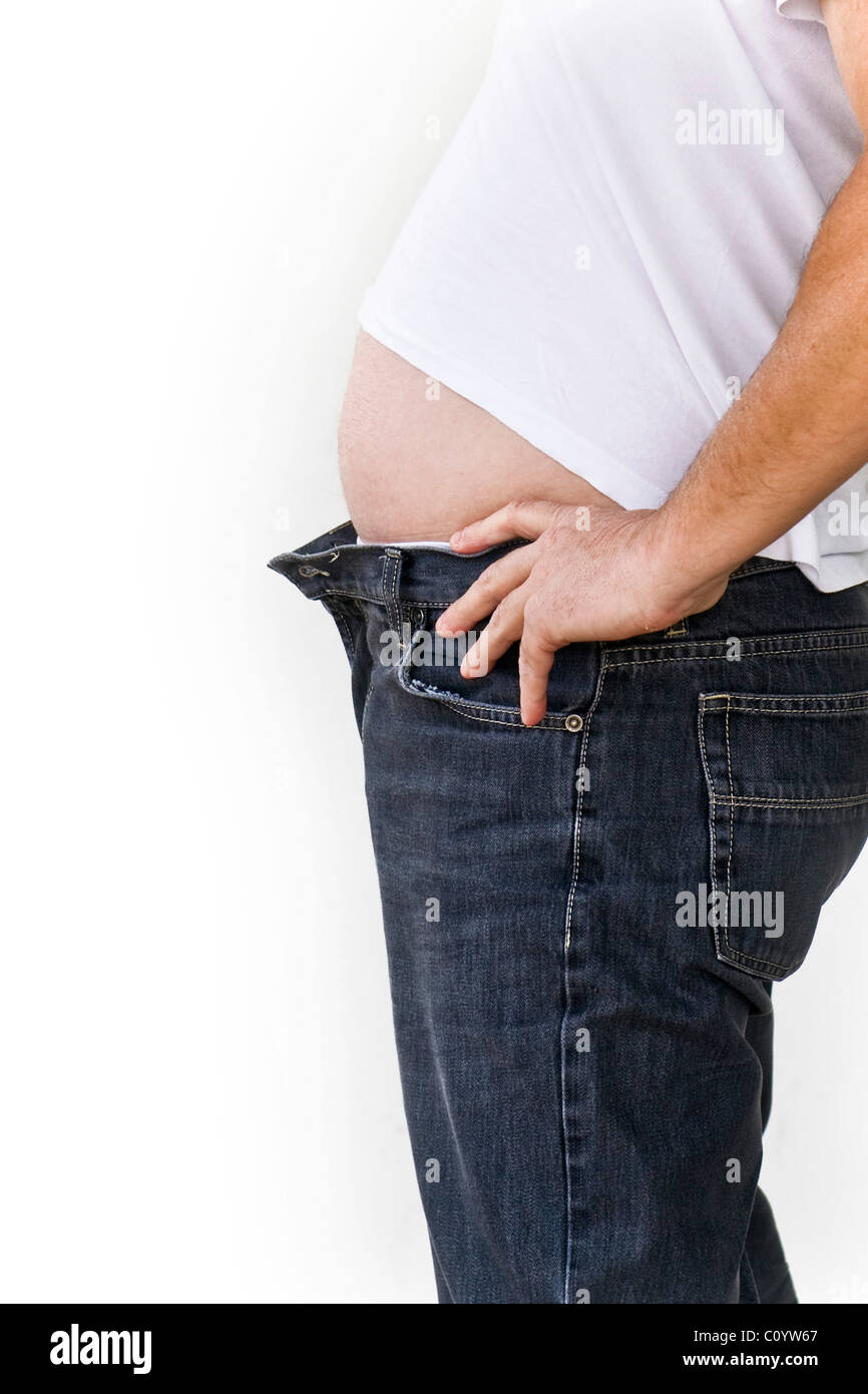 fat, paunch - Stock Image
