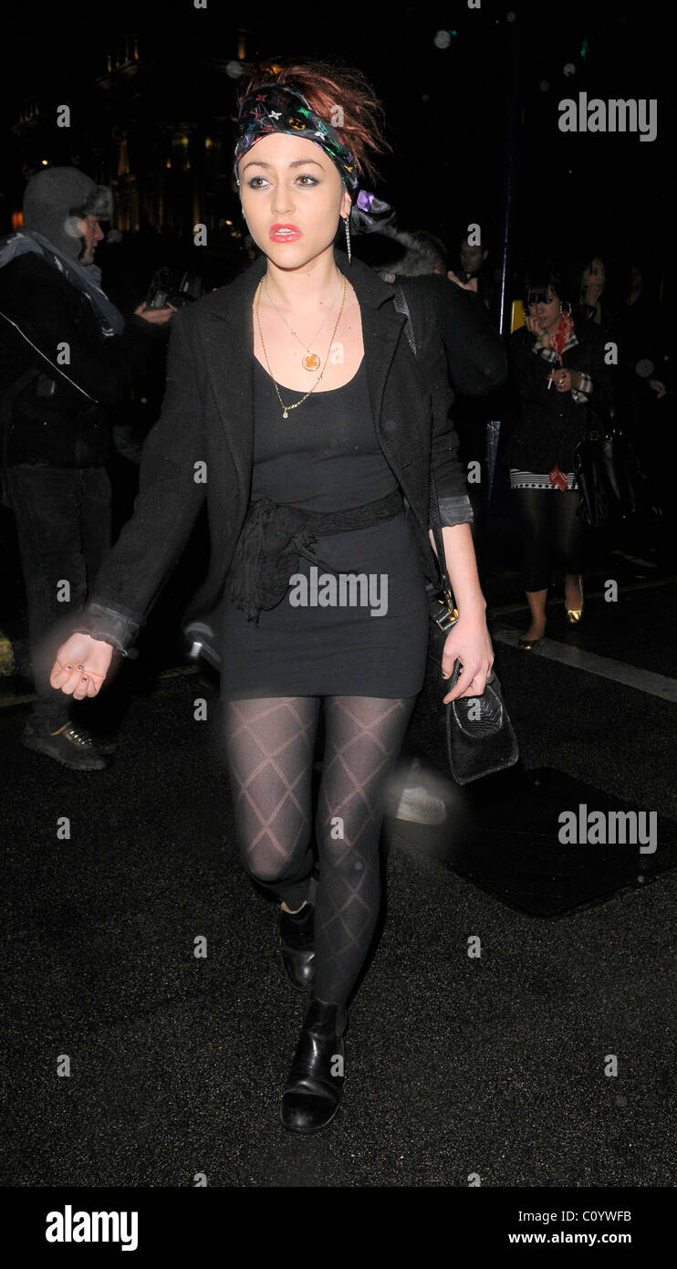 Jaime Winstone arrived with pals at Cameo nightclub, having