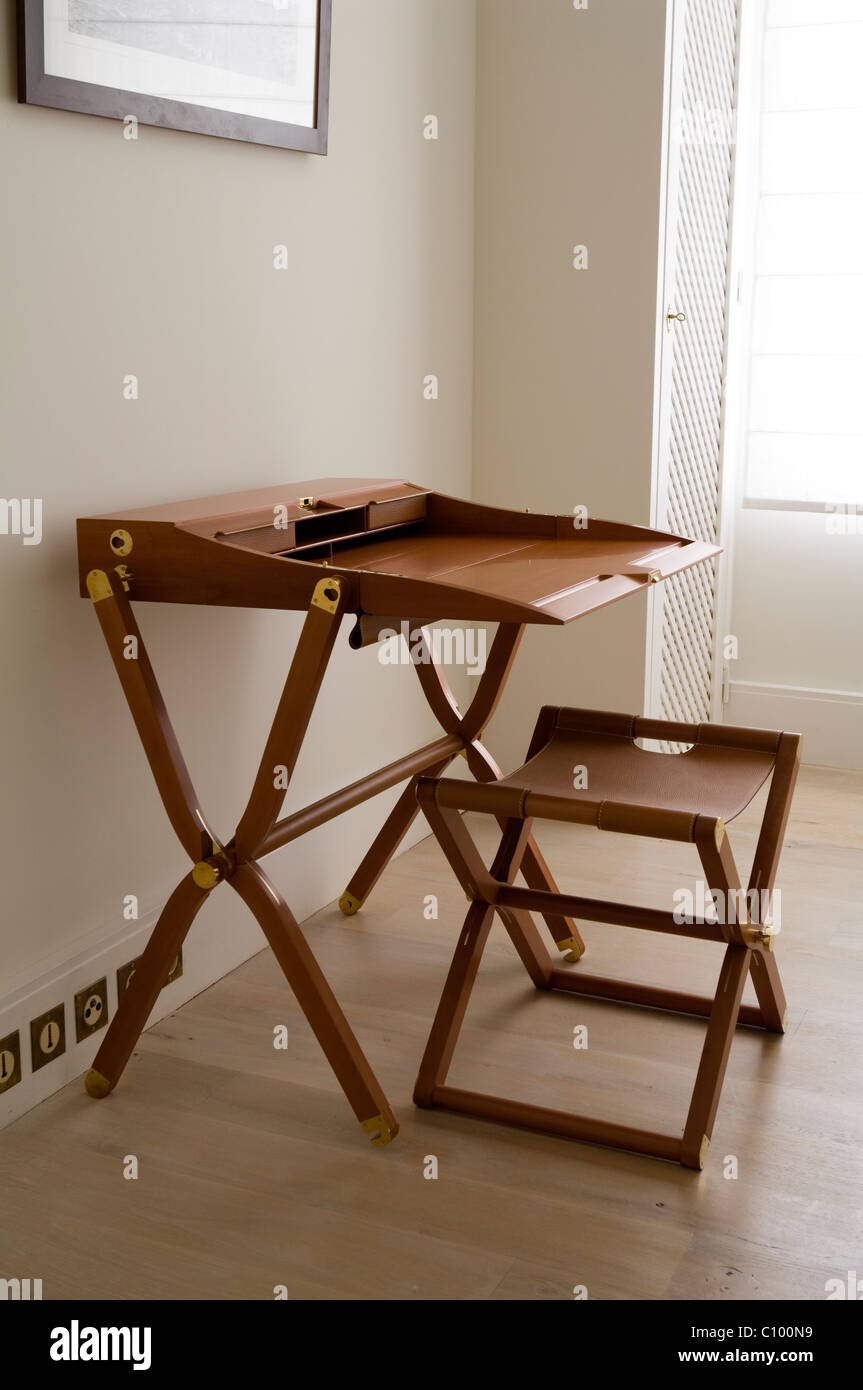 Excellent Hermes Folding Desk And Stool Set Stock Photo 35035989 Alamy Gmtry Best Dining Table And Chair Ideas Images Gmtryco