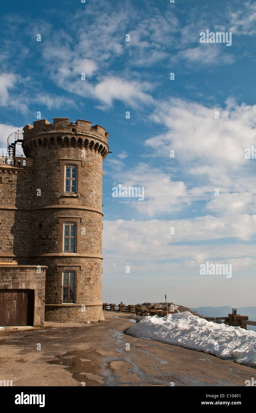 Mont Aigoual meteorological observatory, Gard, Languedoc, France - Stock Image