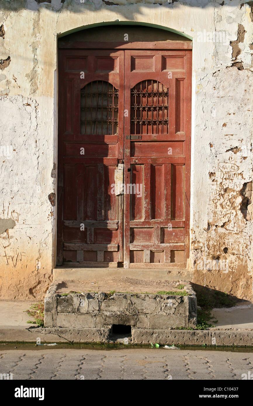 Old door doors of Granada Nicaragua Latin America. & Old door doors of Granada Nicaragua Latin America Stock Photo ...