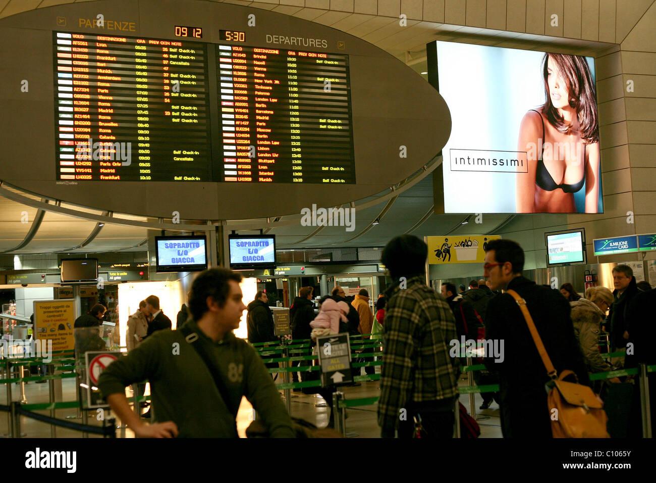 Leonardo da Vinci-Fiumicino Airport, Rome, Italy - Stock Image