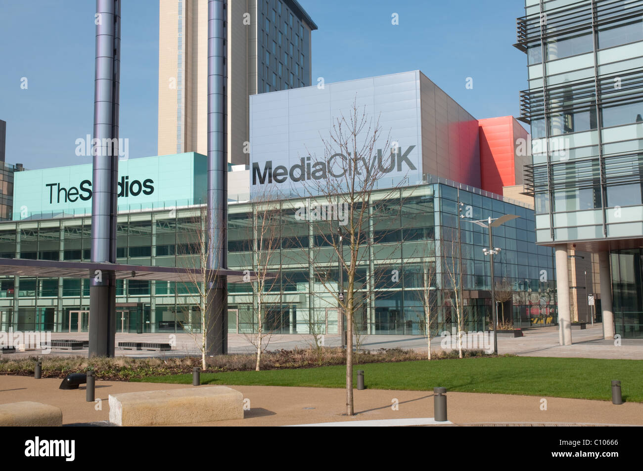 Media City UK. Centre for the digital and creative industries,including the BBC,ITV and Salford University . - Stock Image