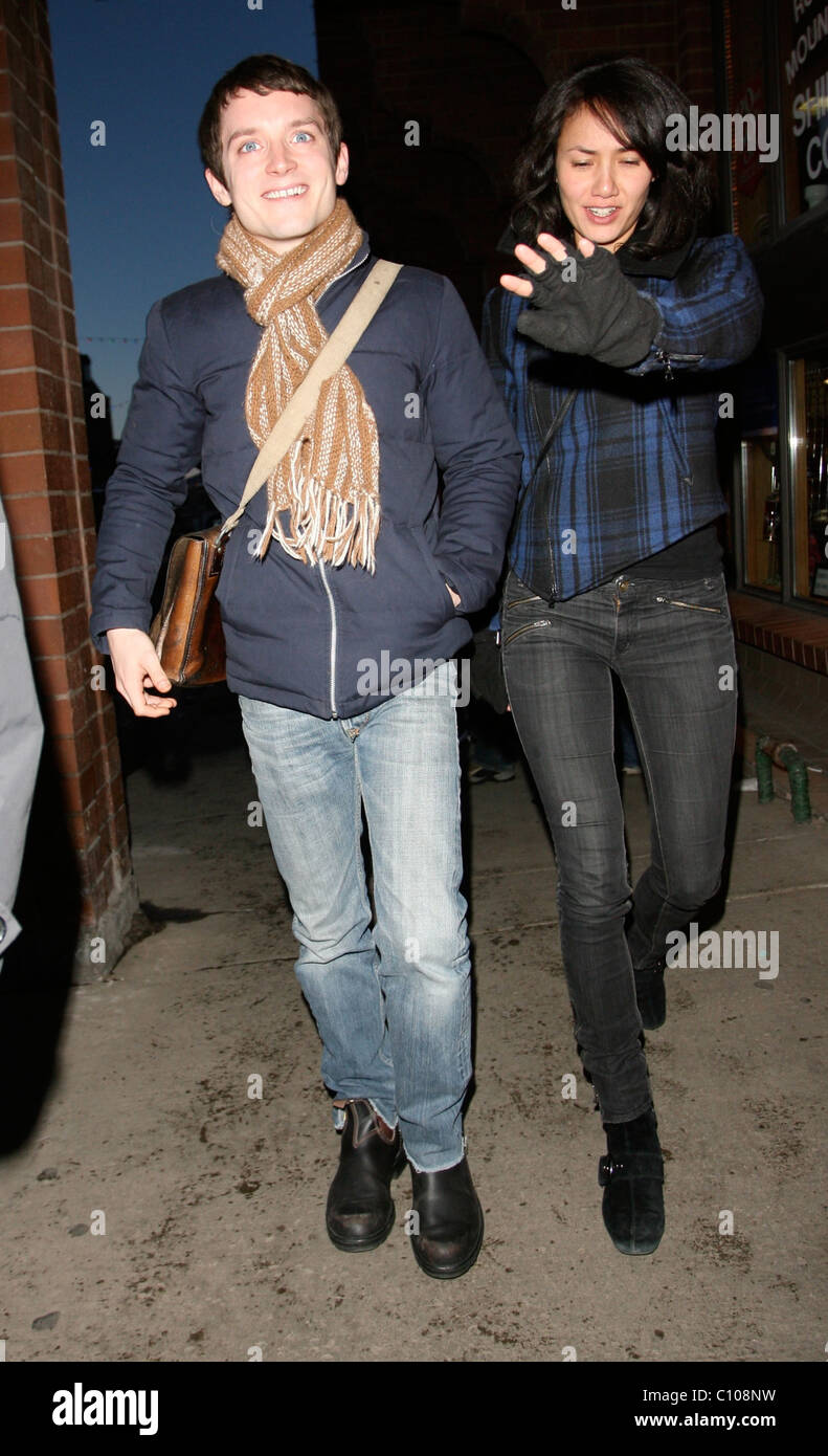 Elijah Wood and girlfriend Pamela Racine out and about ...