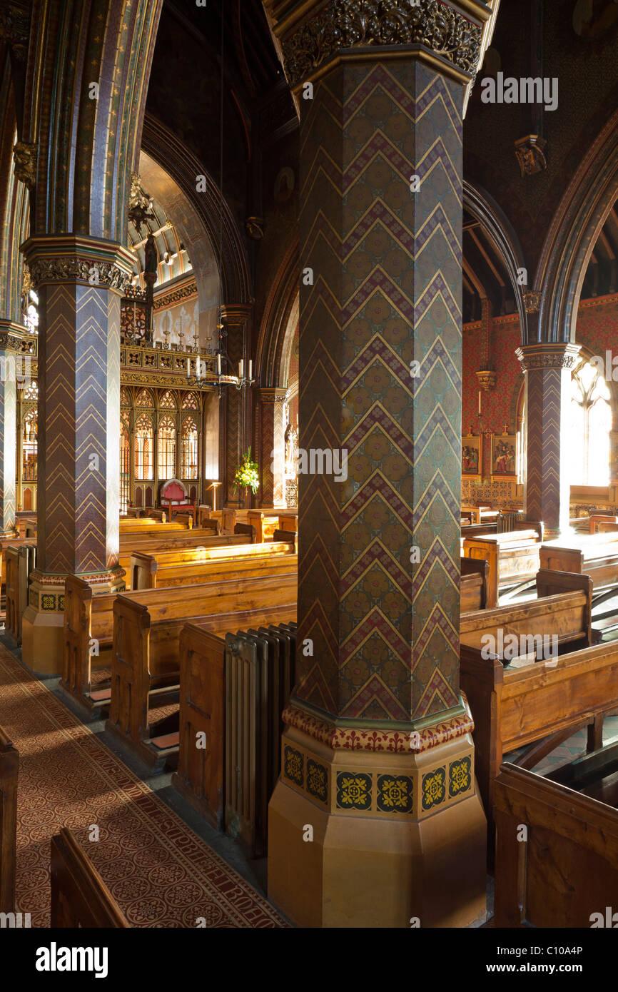 St Gile's Church, Cheadle, Staffs. Roman Catholic church designed by Pugin. - Stock Image