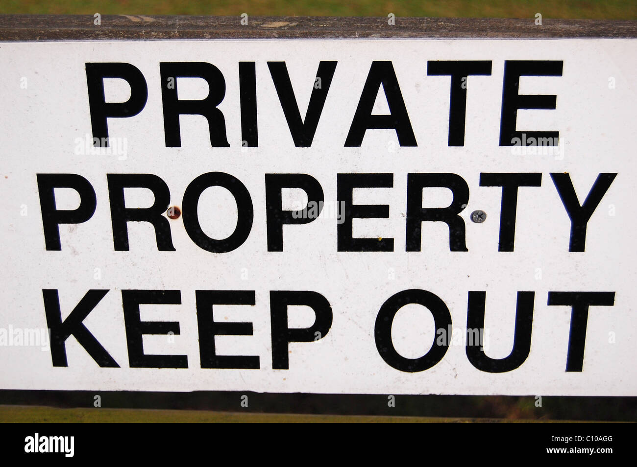 private property keep out sign - Stock Image