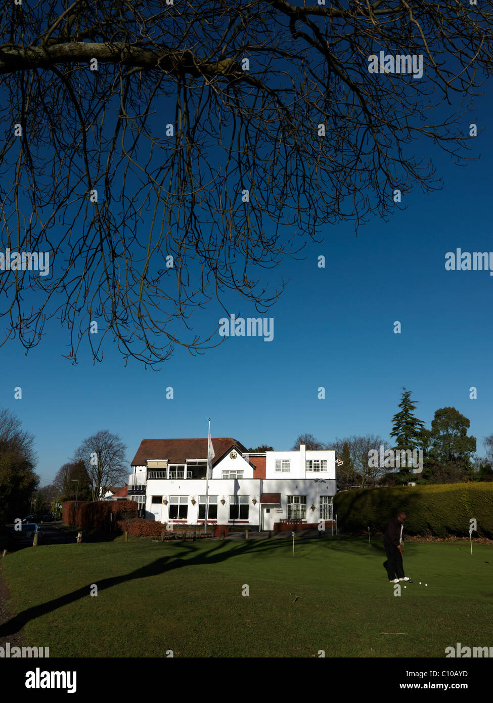 Banstead Downs Golf Club Surrey Clubhouse - Stock Image
