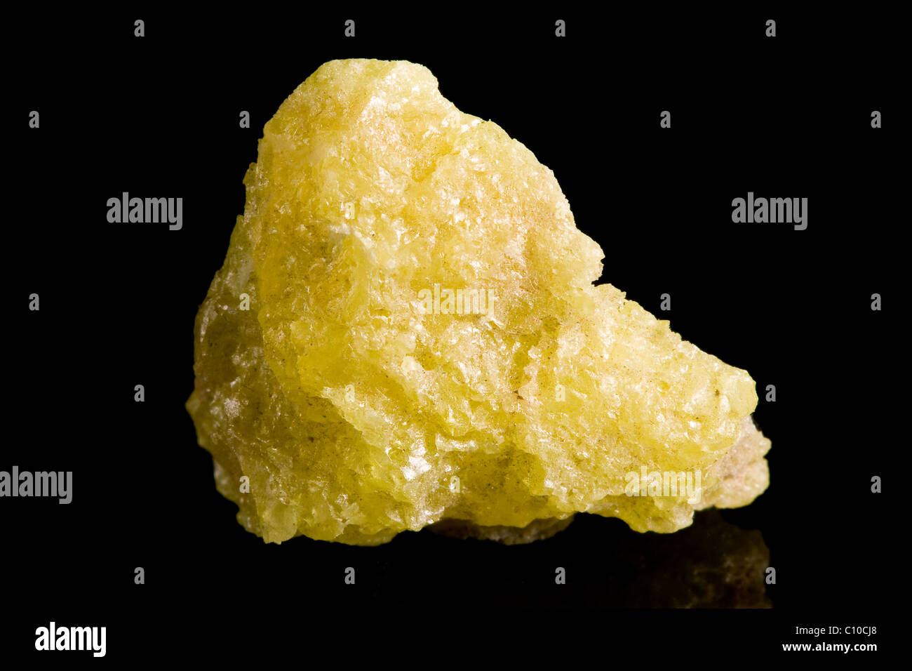 Sulfur crystals - Stock Image