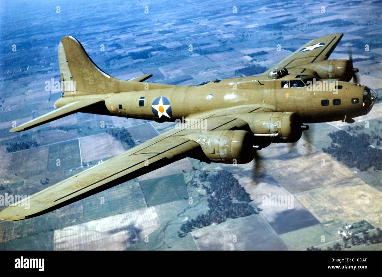 B-17 Flying Fortress, Boeing B-17 Flying Fortress - Stock Image