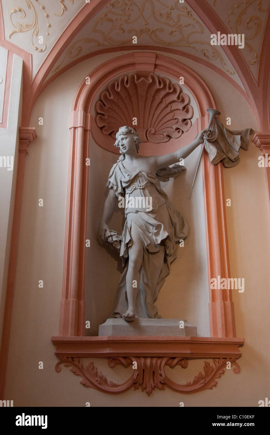 Austria, Wachau Valley, Melk. 900 year old baroque Melk Abbey (aka Benediktinerstift). Interior. - Stock Image