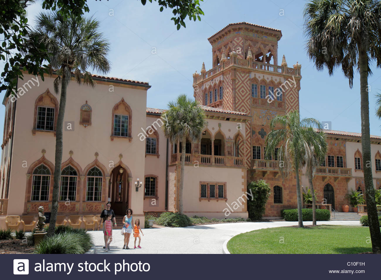 Sarasota Florida John and & Mable Ringling Museum of Art estate Ca d' Zan Mansion Venetian Gothic architecture - Stock Image