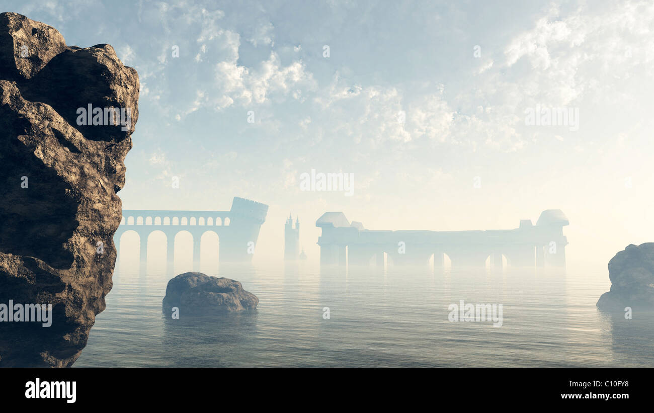 Last Ruins of Lost Atlantis - Stock Image