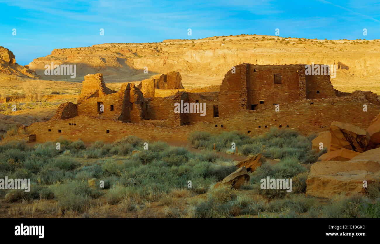 Pueblo Bonito in in Chaco Culture National Historical Park - Stock Image