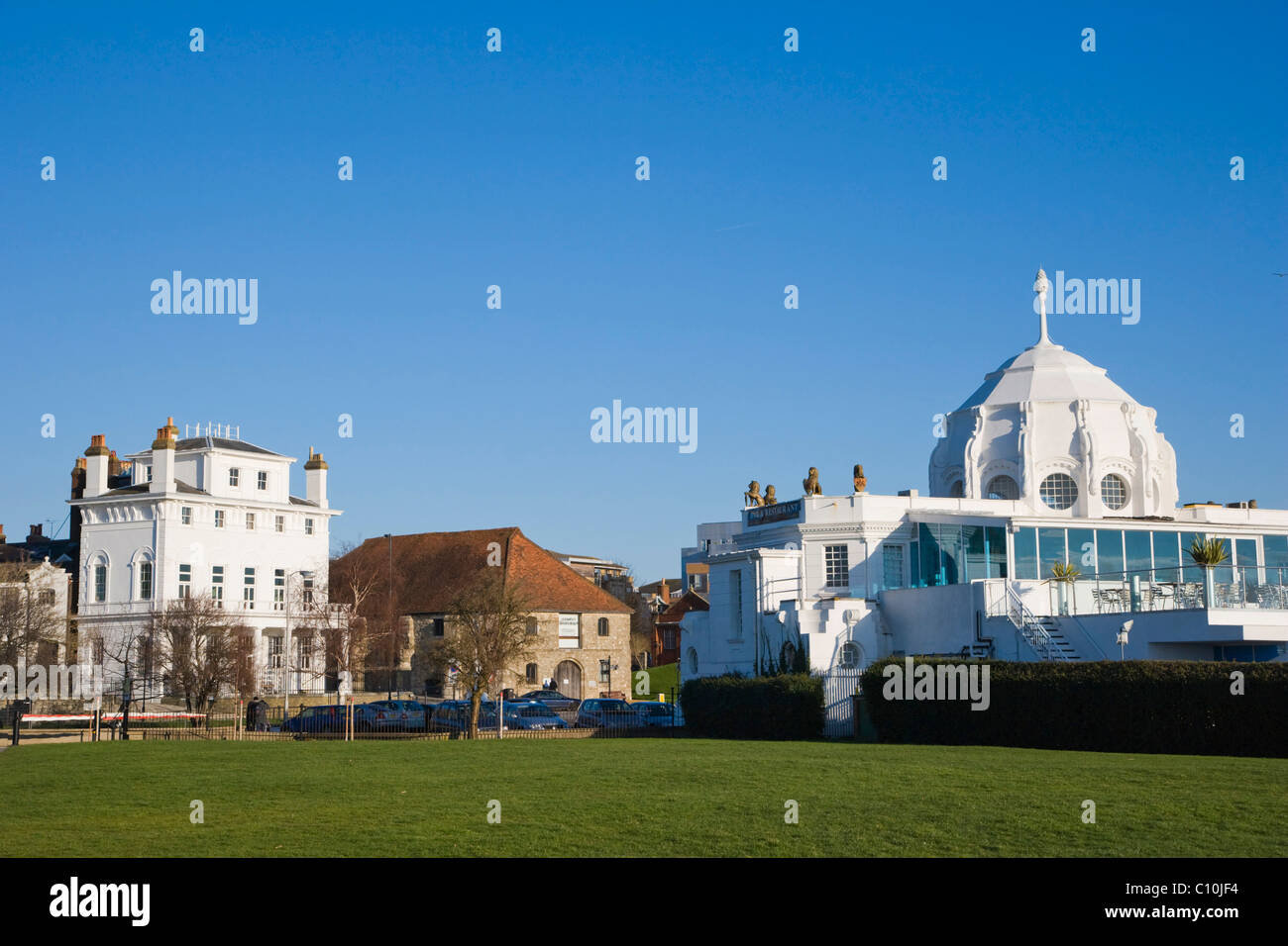 Royal Yacht Club and Wool House, Southampton Maritime Museum and Royal Pier, Thai Restaurant, Southampton, Hampshire, - Stock Image