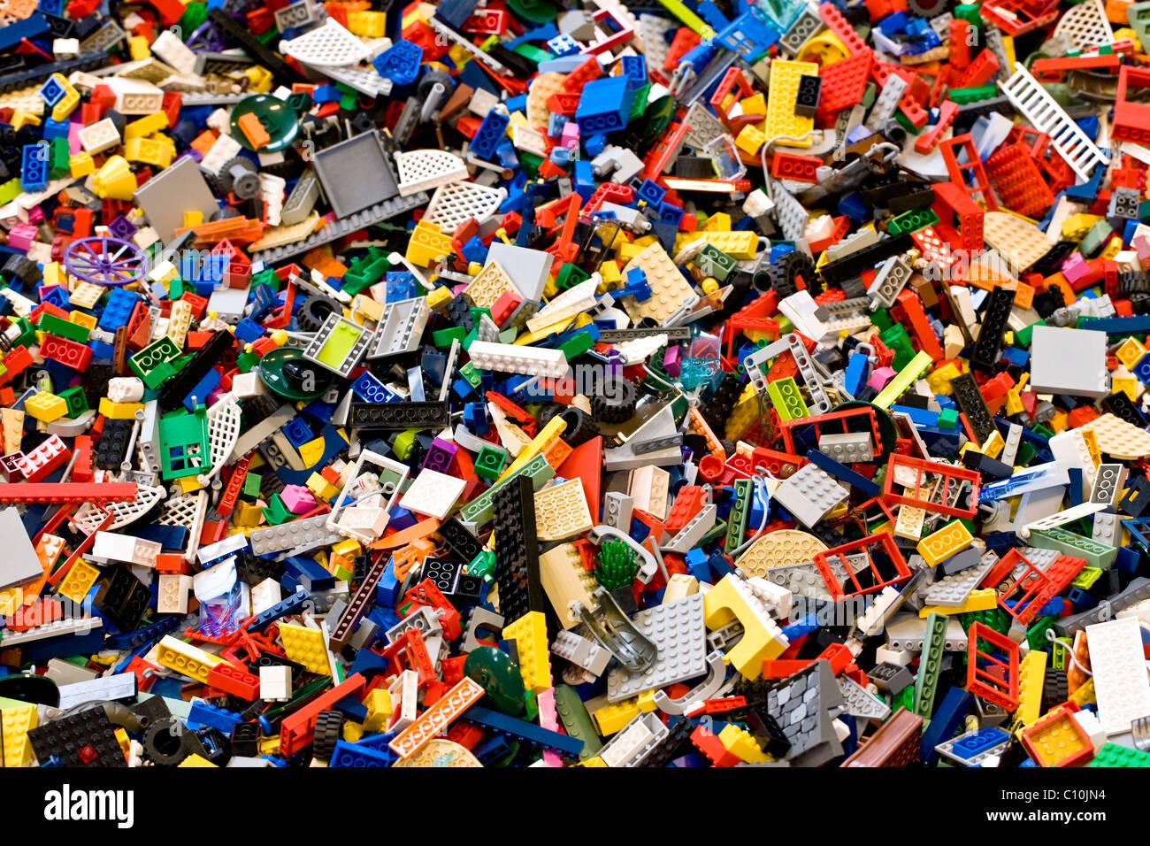 Heap of Lego bricks - Stock Image