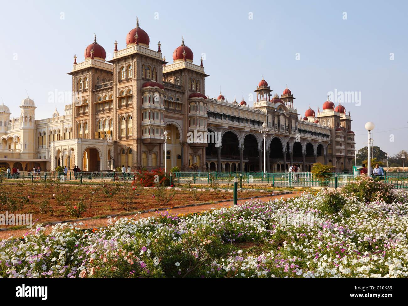Maharaja Palace, Mysore Palace, Mysore, Karnataka, South India, India, South Asia, Asia - Stock Image