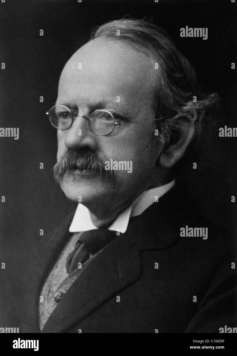 "British physicist Sir Joseph John ""J. J."" Thomson (1856 - 1940) - winner of the Nobel Prize in Physics in 1906. Stock Photo"