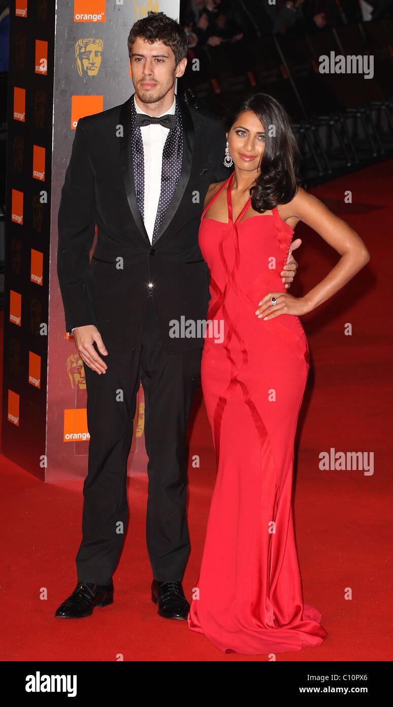 Toby Kebbell and girlfriend Ruzwana Bashir The Orange
