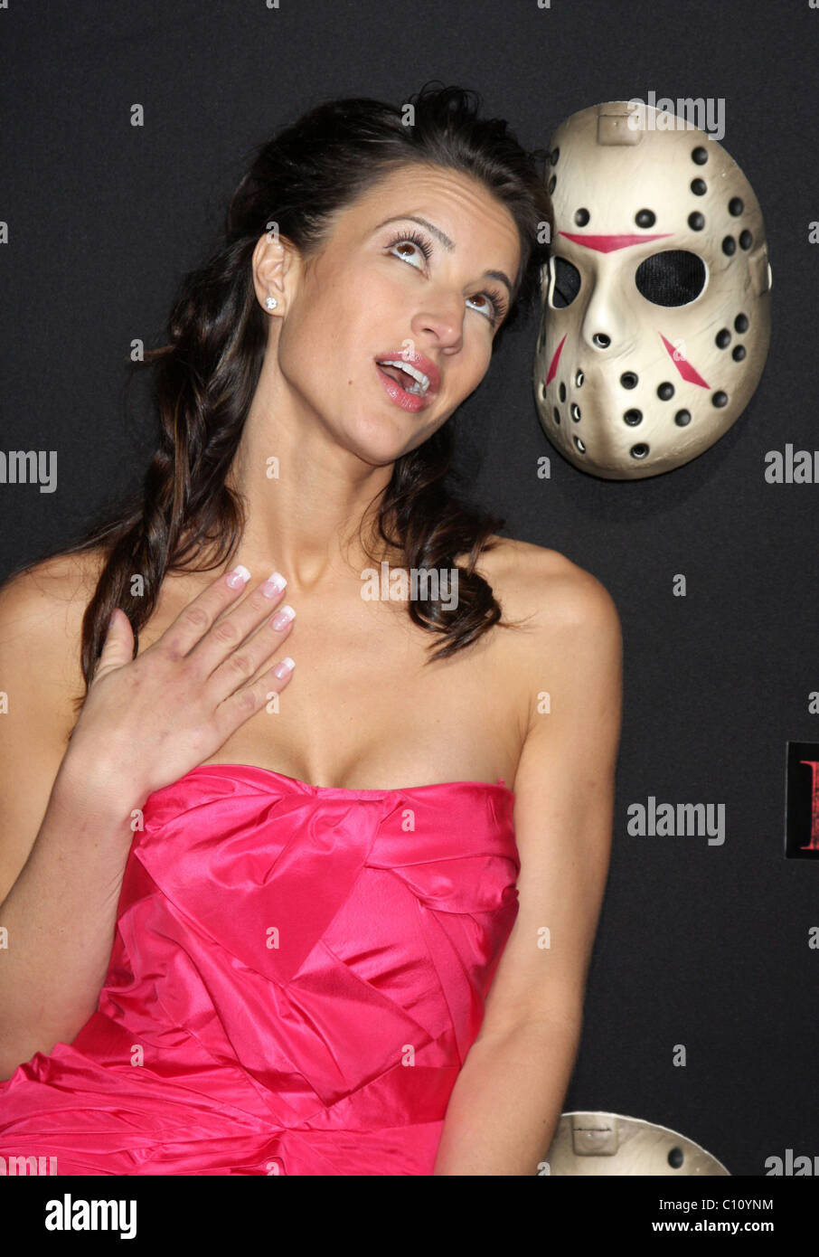America Olivo 'Friday The 13th' Los Angeles Premiere Grauman's Chinese Theatre - Arrivals Hollywood, California Stock Photo