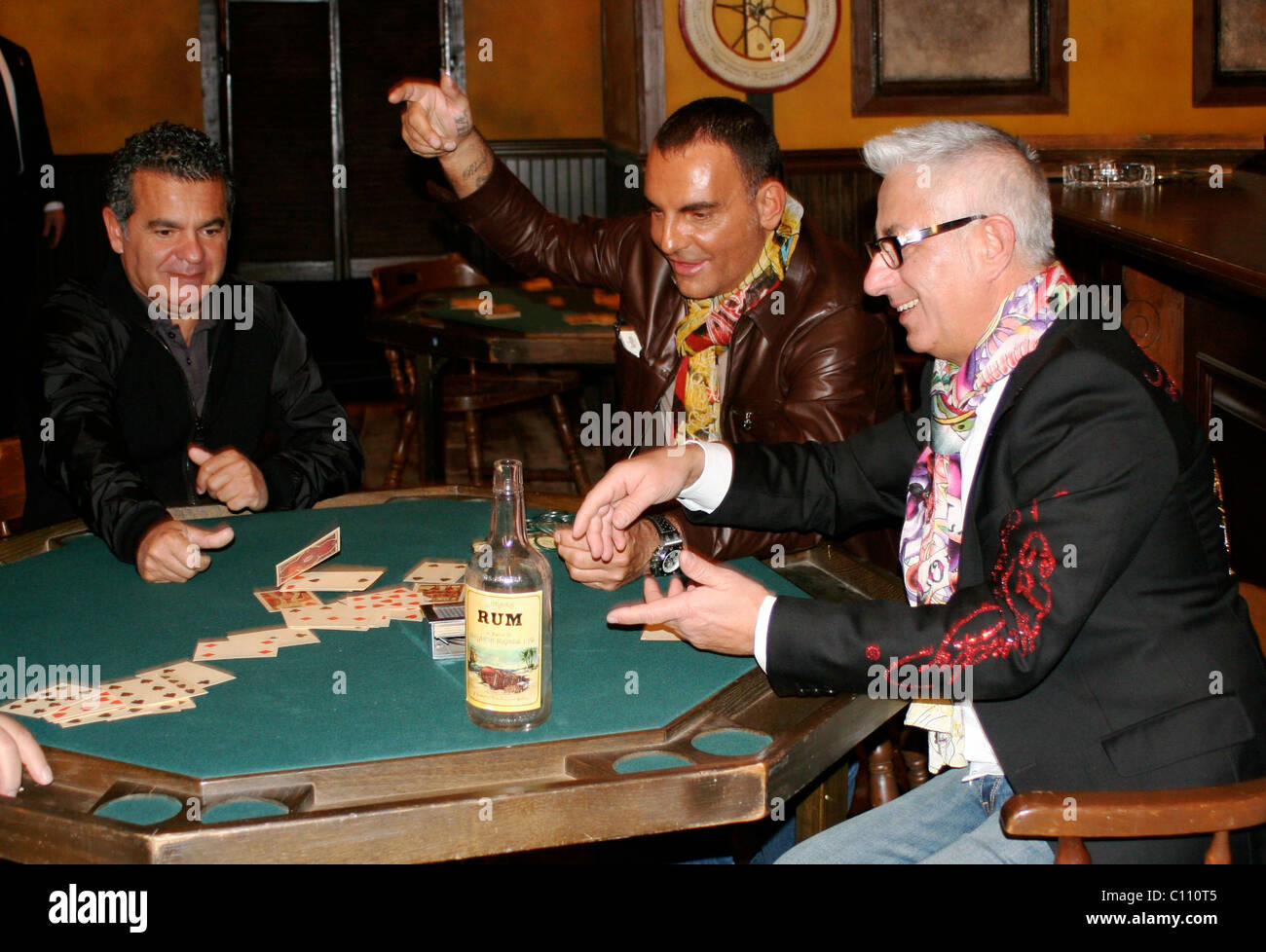 Christian Audigier And Guests World Famous Fashion Designer Christian Stock Photo Alamy