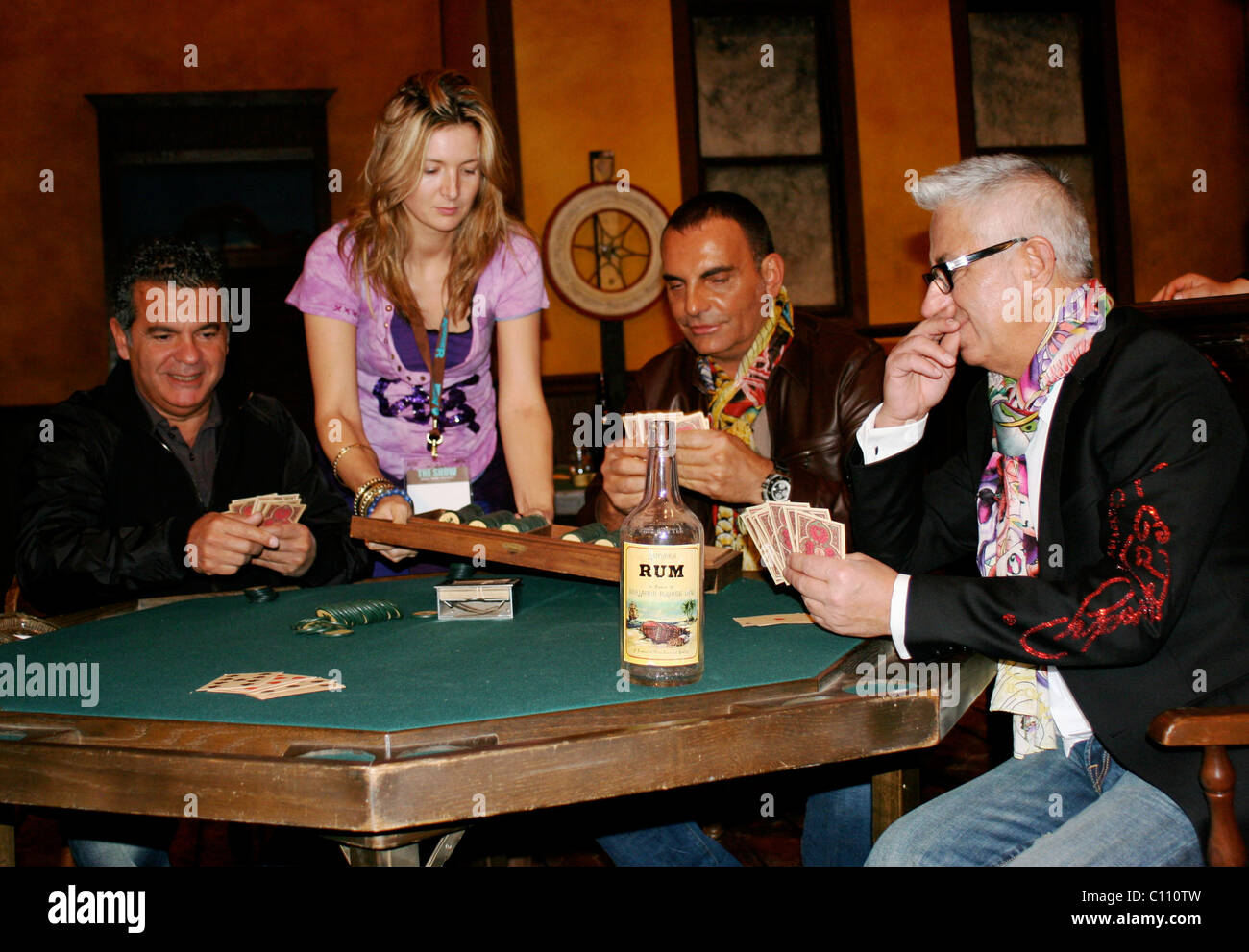 Christian Audigier And Guests World Famous Fashion Designer Christian Stock Photo 35058041 Alamy