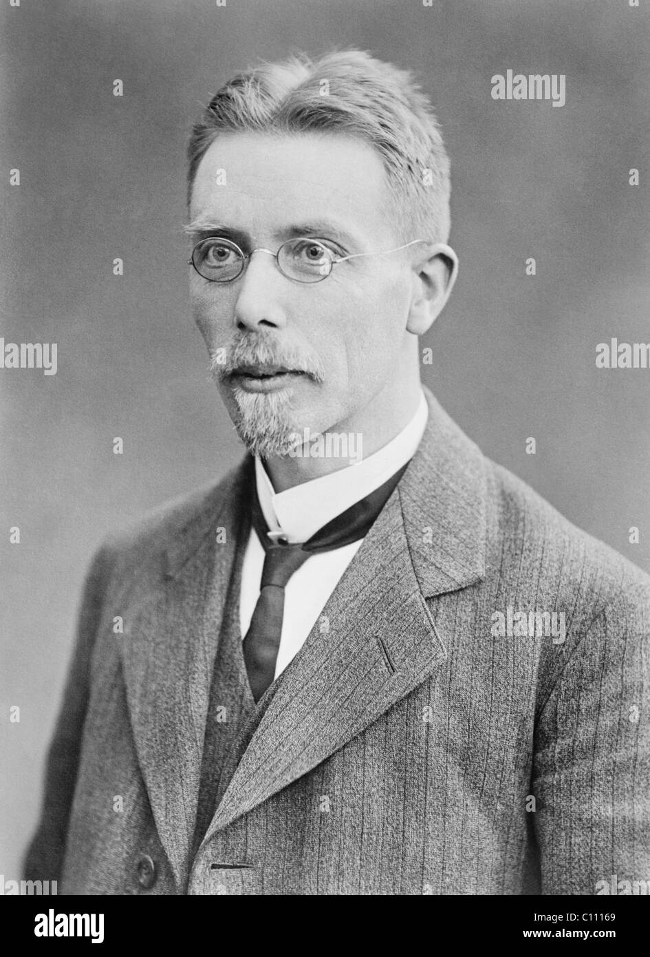 Danish physiologist August Krogh (1874 - 1949) - winner of the Nobel Prize in Physiology or Medicine in 1920. - Stock Image