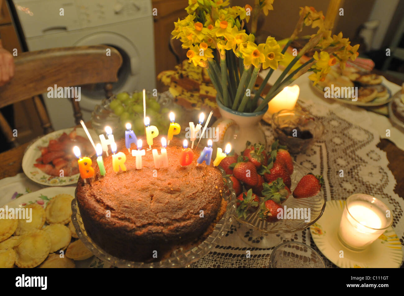 Admirable A Birthday Cake Made By A 12 Year Old Stock Photo 35058600 Alamy Funny Birthday Cards Online Elaedamsfinfo