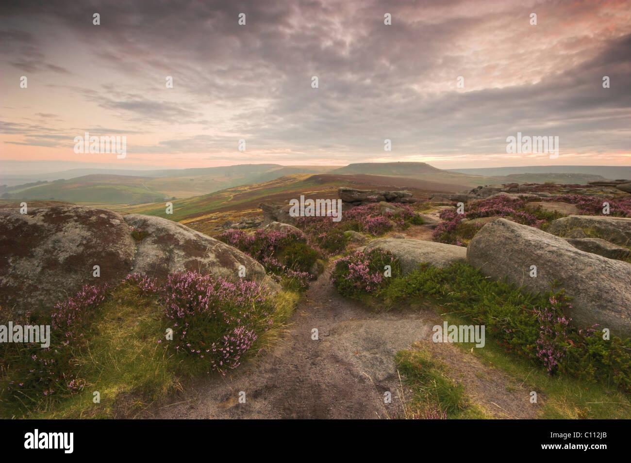 Dawn over Owler Tor - Stock Image