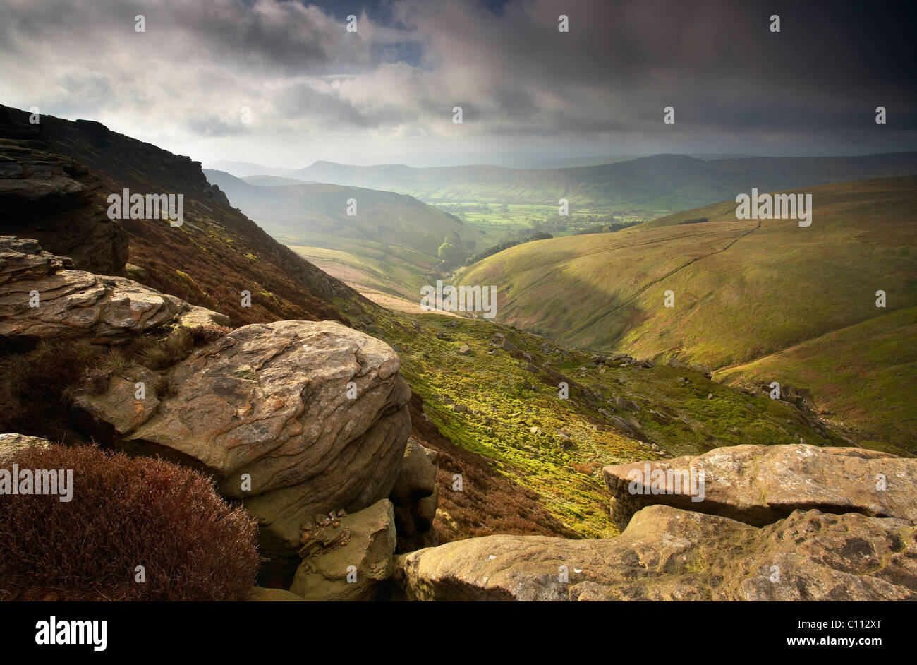 Upper Tor above Edale - Stock Image