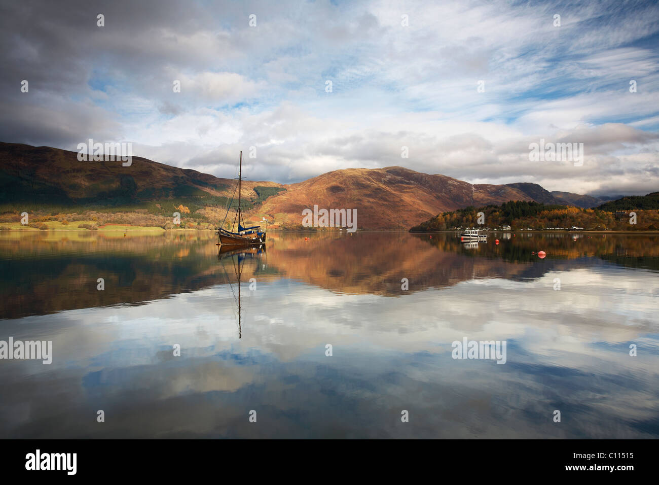 Loch Leven Reflections - Stock Image