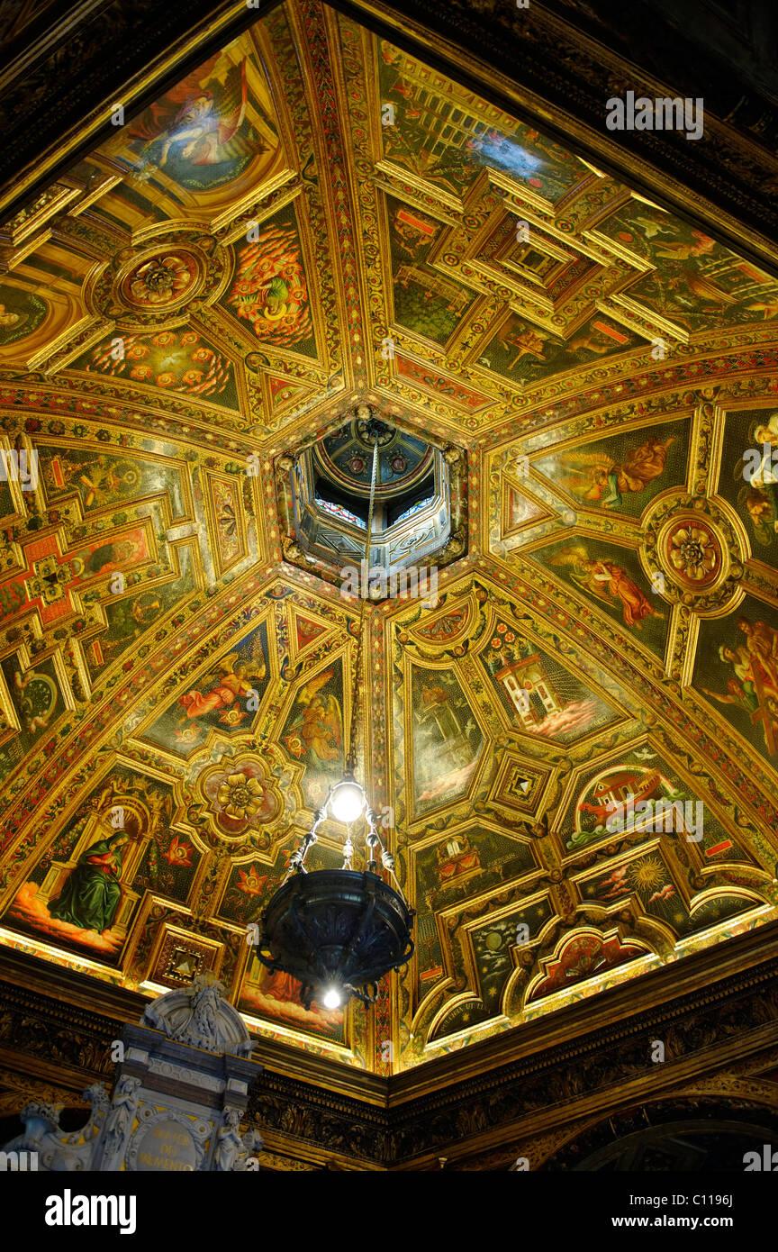 Cupola ceiling, Chapel of Grace, Kevelaer, North Rhine-Westfalia, Germany, Europe - Stock Image