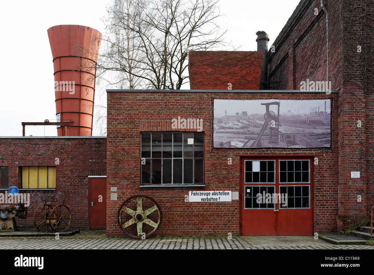 Kunstschacht Zollverein, art gallery in the former power station, shafts 1-2-8, disused mine, Zollverein Coal Mine - Stock Image