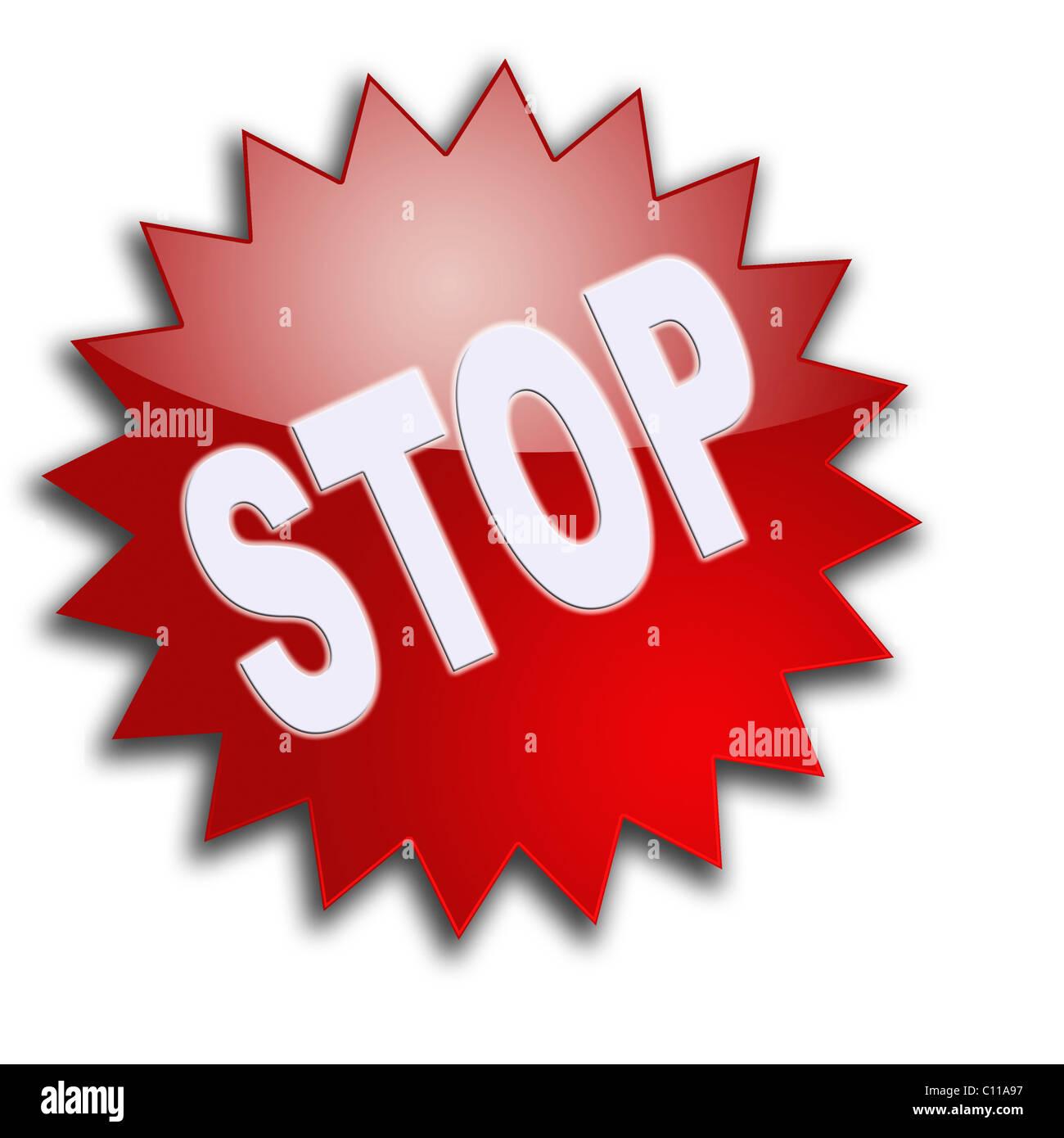 Writing 'Stop' - Stock Image