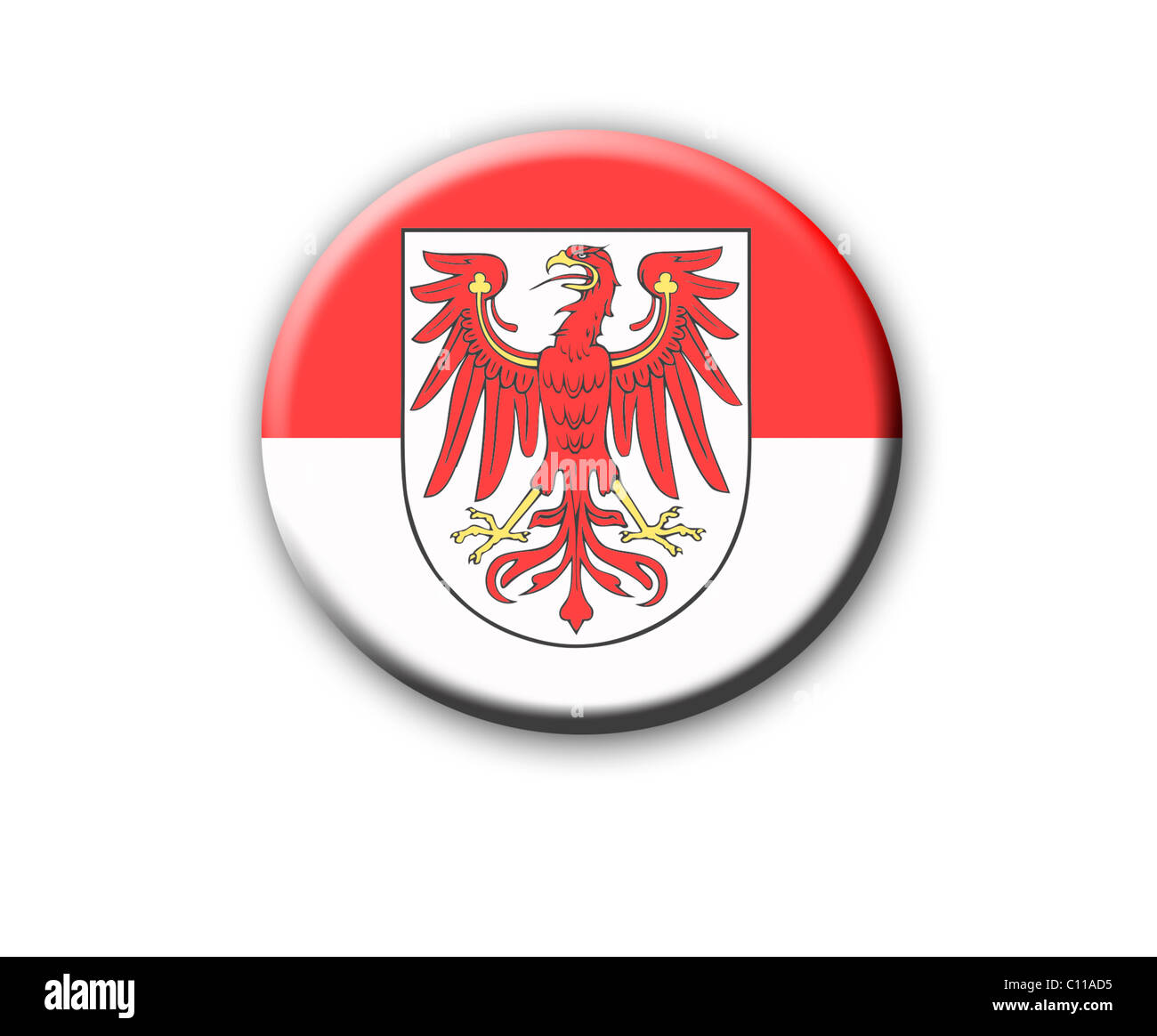 Coat of arms of the state of Brandenburg, Germany - Stock Image