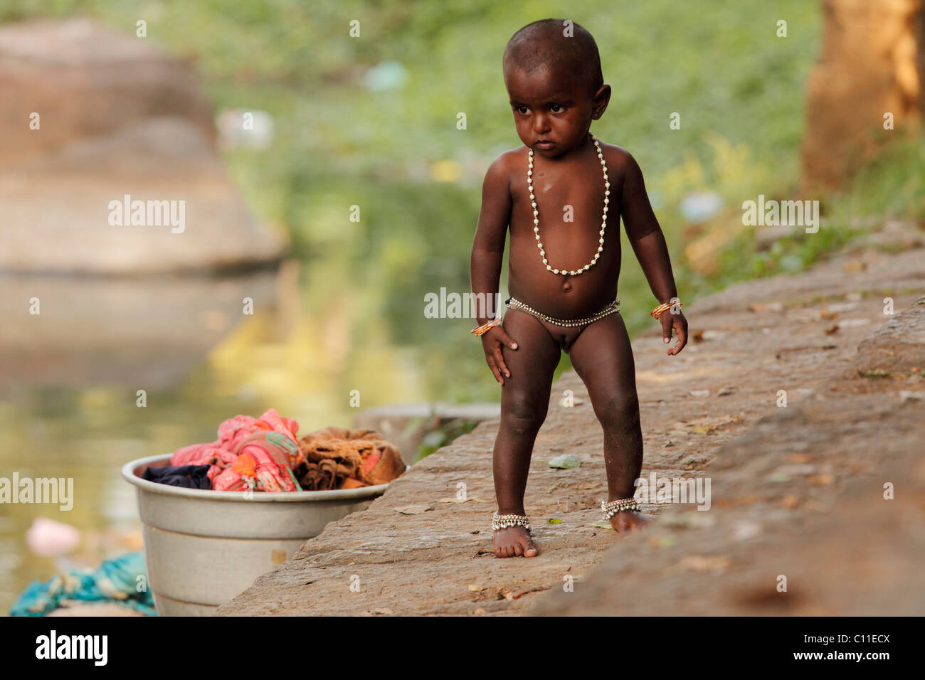 Young naked girls kids Little girl with toys stock photo. Image of beauty ...
