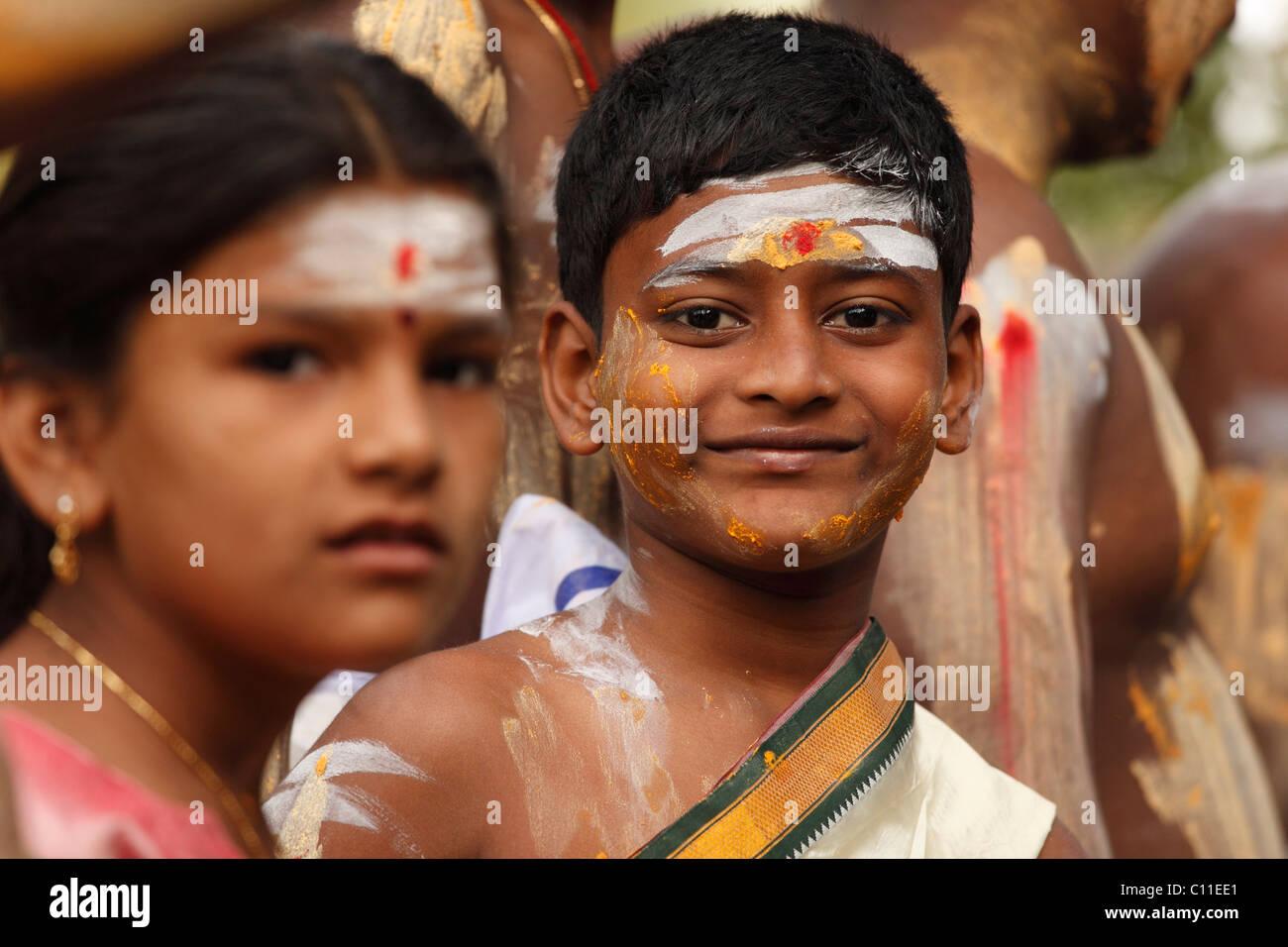 Thaipusam festival in Tenkasi, Tamil Nadu, Tamilnadu, South India, India, Asia - Stock Image