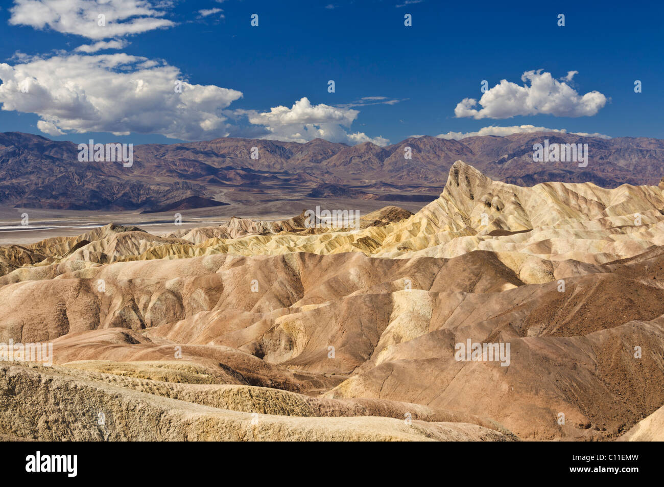 Manly Beacon at Zabriskie Point, Furnace creek, Death Valley National Park, California, USA - Stock Image