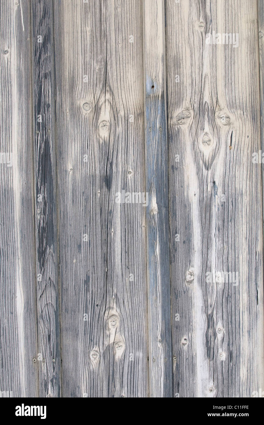 Detail, weathered gray planks, background - Stock Image