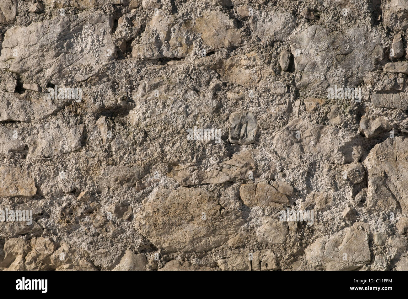 Stone wall, detail, background - Stock Image