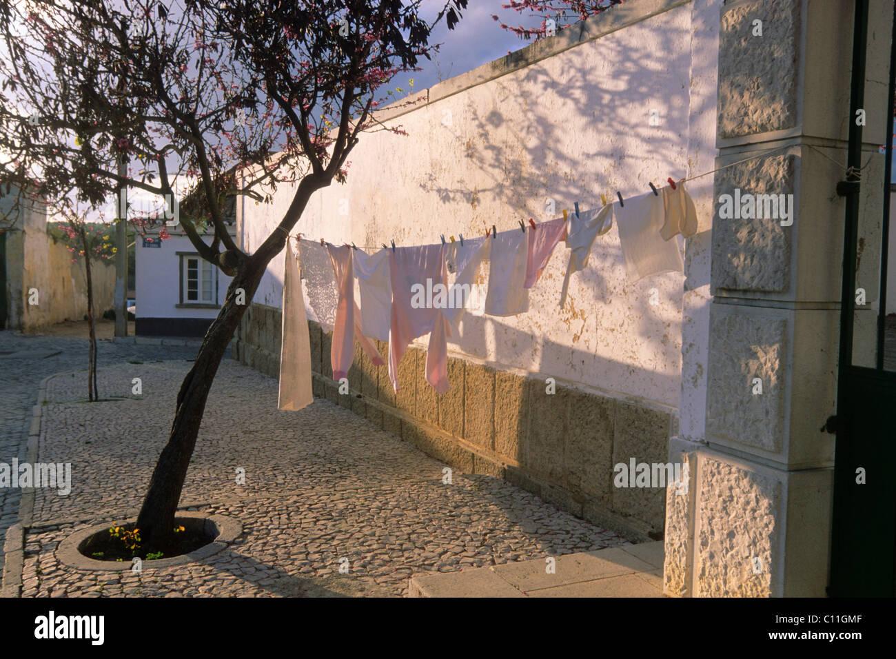 Village square, Tavira, Silves, Algarve, Portugal, Europe Stock Photo