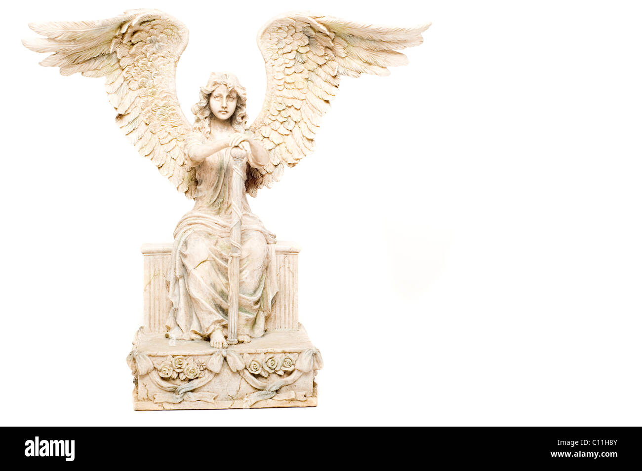 angel statue, isolated - Stock Image